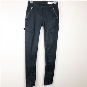 Rag and Bone cargo black skinny jeans